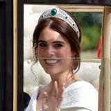 An der freudestrahlenden Braut Eugenie können wir uns gar nicht sattsehen.