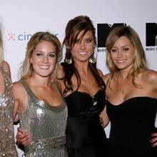 "Die ""The Hills""-Darsteller Whitney Port, Heidi Pratt, Audrina Patridge und Lauren Conrad"