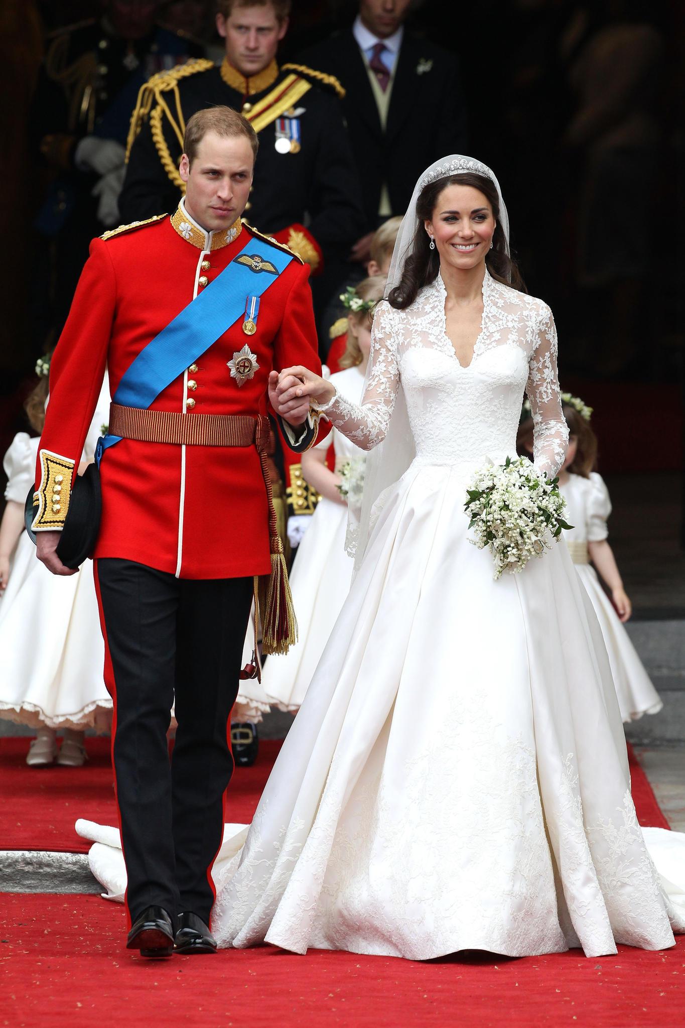 Prinz William und Herzogin Catherine heirateten am 29. April 2011