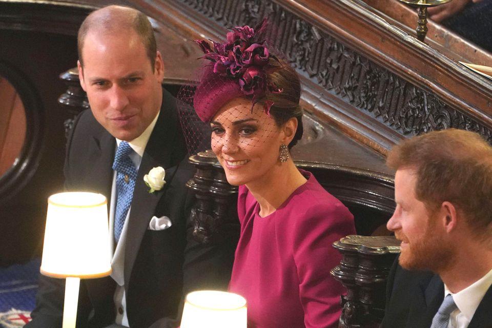 Prinz William und Herzogin Catherine in der St George's Chapel