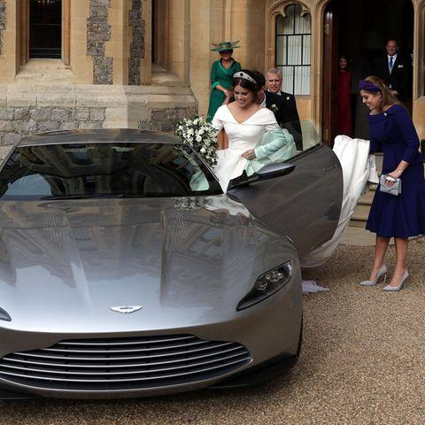 Prinzessin Eugenie auf dem Weg zur nächsten Party