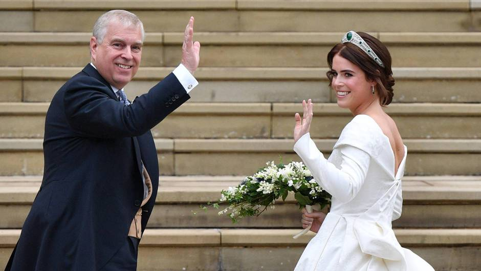 Prinz Andrew und Prinzessin Eugenie