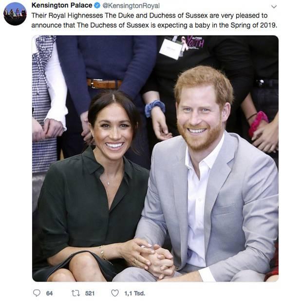 15. Oktober 2018  Diese Nachricht wurde mit Freude erwartet: Der Palast hat bestätigt, dass Herzogin Meghan und Prinz Harry ihr erstes gemeinsames Kind erwarten.