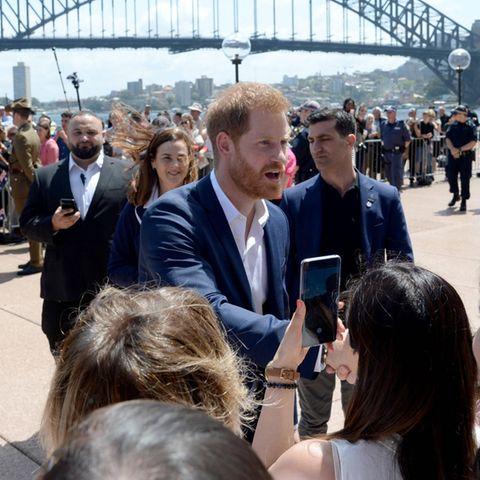 Prinz Harry reist mit Herzogin Meghan durch Australien