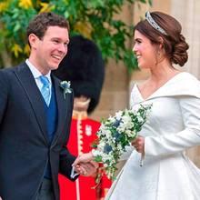 Jack Brooksbank, Prinzessin Eugenie nach der Trauung am 12. Oktober 2018