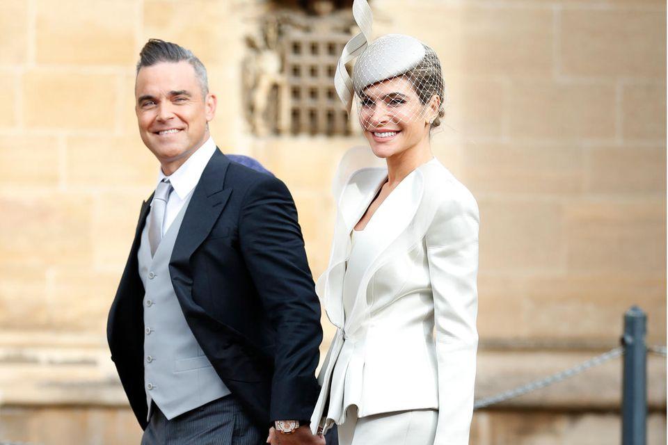 Ayda Field und Robbie Williams auf dem Weg zur Trauung von Prinzessin Eugenie und Jack Brooksbank.