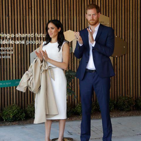 Herzogin Meghan und Prinz Harry bei einem Auftritt im Taronga Zoo am 16. Oktober 2016 in Sydney, Australien