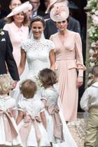 James Matthews, Pippa Middleton und Herzogin Catherine (v.l.n.r.)