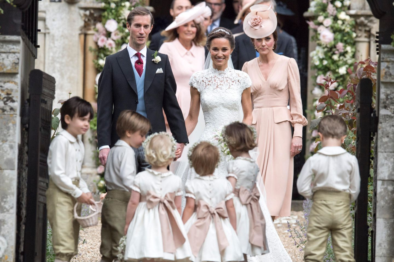 James Matthews, Pippa Middleton und Herzogin Catherine (v.l.n.r.)