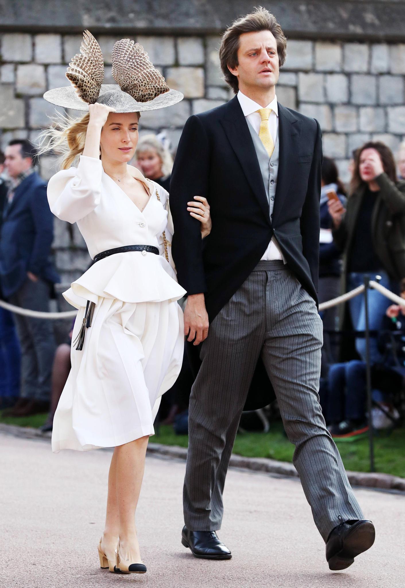 Ekaterina undErnst-August von Hannover bei der Hochzeit von Prinzessin Eugenie und Jack Brooksbank auf Schloss Windsor am 12. Oktober
