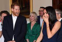 Herzogin Meghan wird am 18. Oktober 2018 in einer Schule in Melbourne ordentlich erschreckt