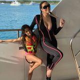 Das Posen hat Töchterchen Monroe in jedem Fall von Mama Mariah Carey.