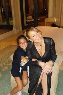 Mutter-Tochter Zeit bei Mariah Carey und Tochter Monroe.