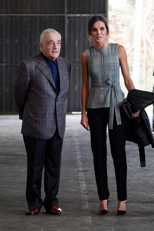 """Der Anlass: Im spanischen Oviedo wird Martin Scorsese gefeiert! Königin Letizia trifft den bedeutenden Regisseur und anderenjungen Cineasten im Rahmen der """"Princess of Asturias Awards 2018""""."""