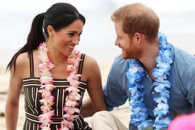 Herzogin Meghan und Prinz Harry am Bondi Beach