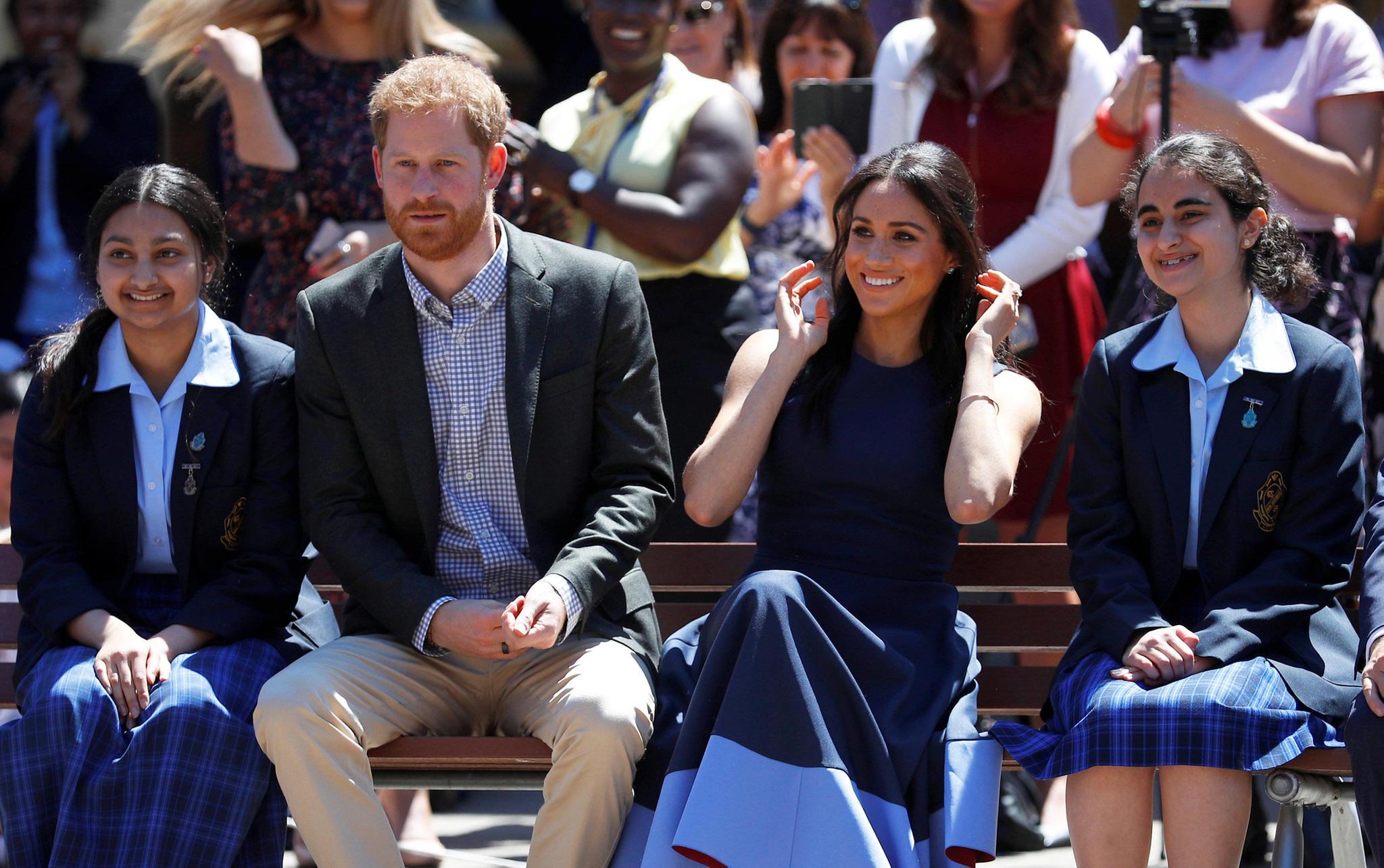 Prinz Harry und Herzogin Meghan beim Besuch der Macarthur Girls High School