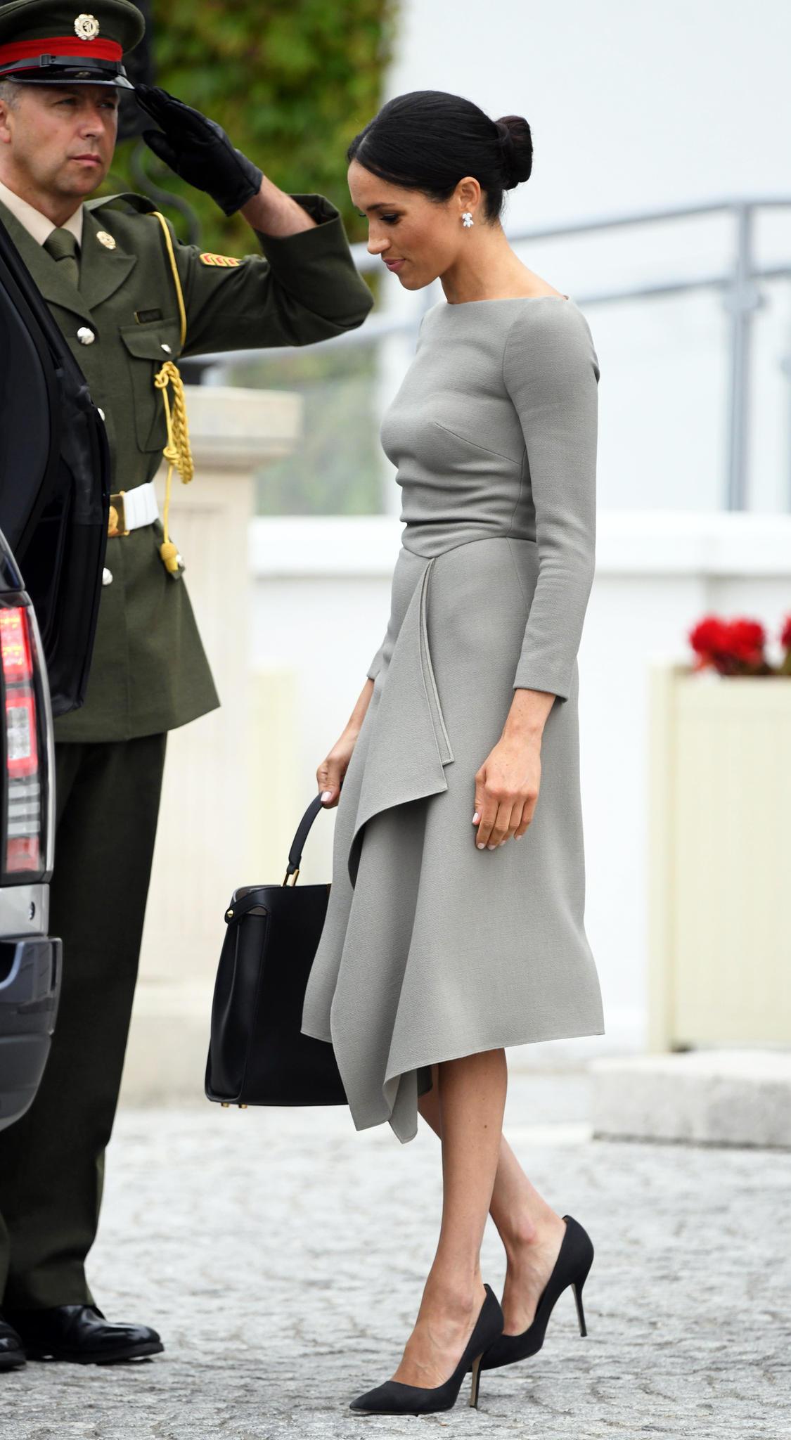 Herzogin Meghan im Juli 2018 - damals war sie vermutlich schon schwanger.
