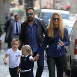 5. Oktober 2018  Michelle Hunziker bei einer kleinen Shoppingtour mit ihren beiden Töchtern Sole und Celeste in Mailand.