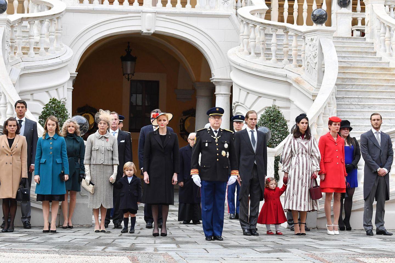 Die Familie Grimaldi, die Herrscherfamilie des Fürstentums Monaco