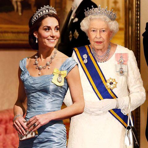 Herzogin Catherine und Queen Elizabeth.