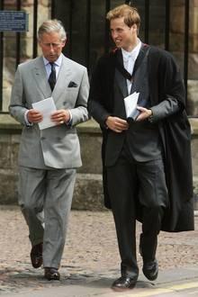 Prinz William und Prinz Charles 2005