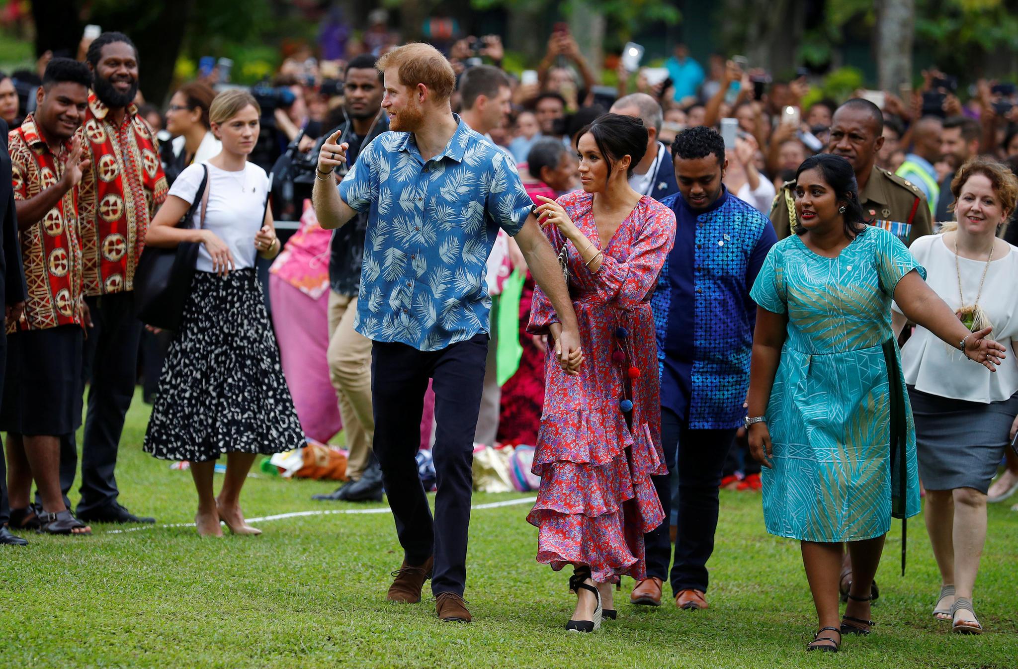 Prinz Harry und Herzogin Meghan besuchen die Universität des Südpazifik in Suva