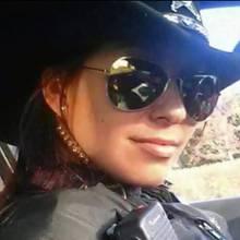 Missgeschick: Mit diesem Selfie riskiert die Polizistin ihren Job