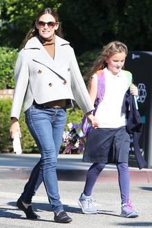 17. Oktober 2018  Bei Sonnenschein in Los Angeles habenJennifer Garner und Tochter Seraphina die beste Laune.