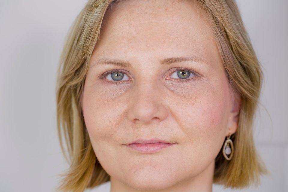 Vor der Permanent Make-up-Behandlung ungeschminkt