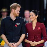 Tag 9  Immer wieder tauschen Prinz Harry und Herzogin Meghan verliebte Blicke aus.