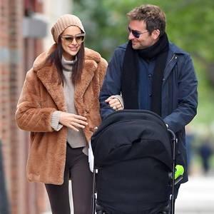 Topmodel Irina Shayk wappnet sich mit einem stylischen Teddy Coat gegen die New Yorker Kälte. Beanie und XL-Sonnenbrille machen den Look perfekt.