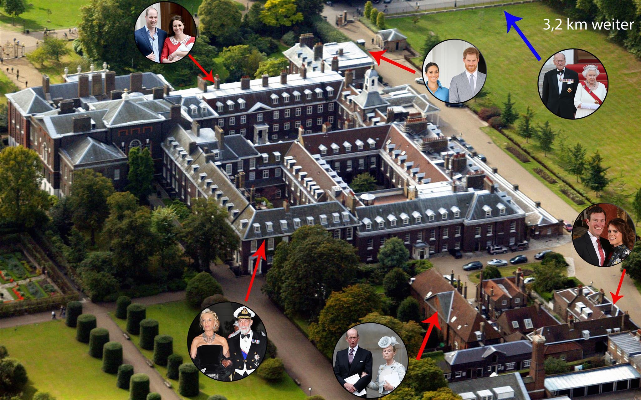 Hier sehen Sie, welche Royals im Kensington Palace wohnen.
