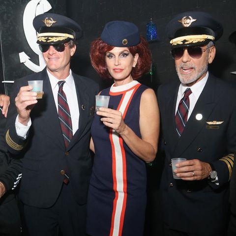 Rande Gerber, Cindy Crawford + George Clooney