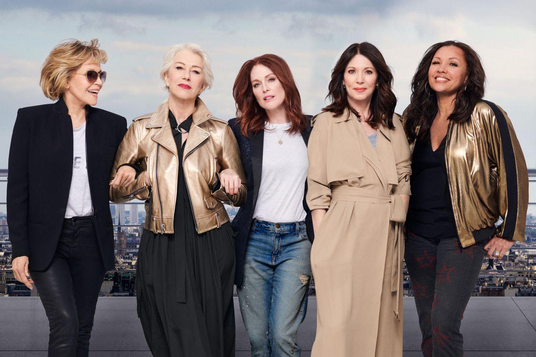 (v.l) Jane Fonda, Helen Mirren, Julianne Moore, Iris Berben und Vanessa Williams