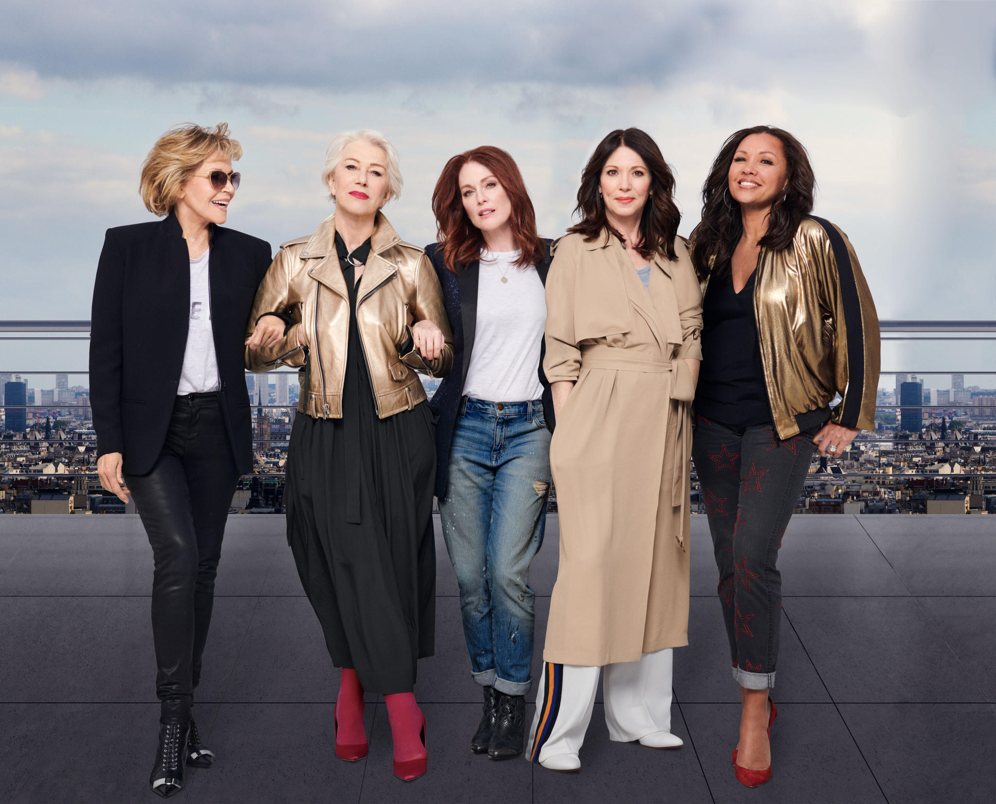 (v.l) Jane Fonda, Helen Mirren, Julianne Moore, Iris Berben und Vanessa Williams