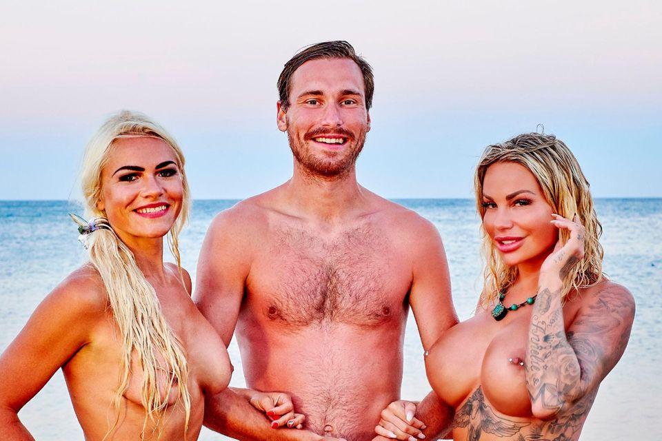 Adam sucht Eva: Marina (l.), Martin, Gina-Lisa Lohfink
