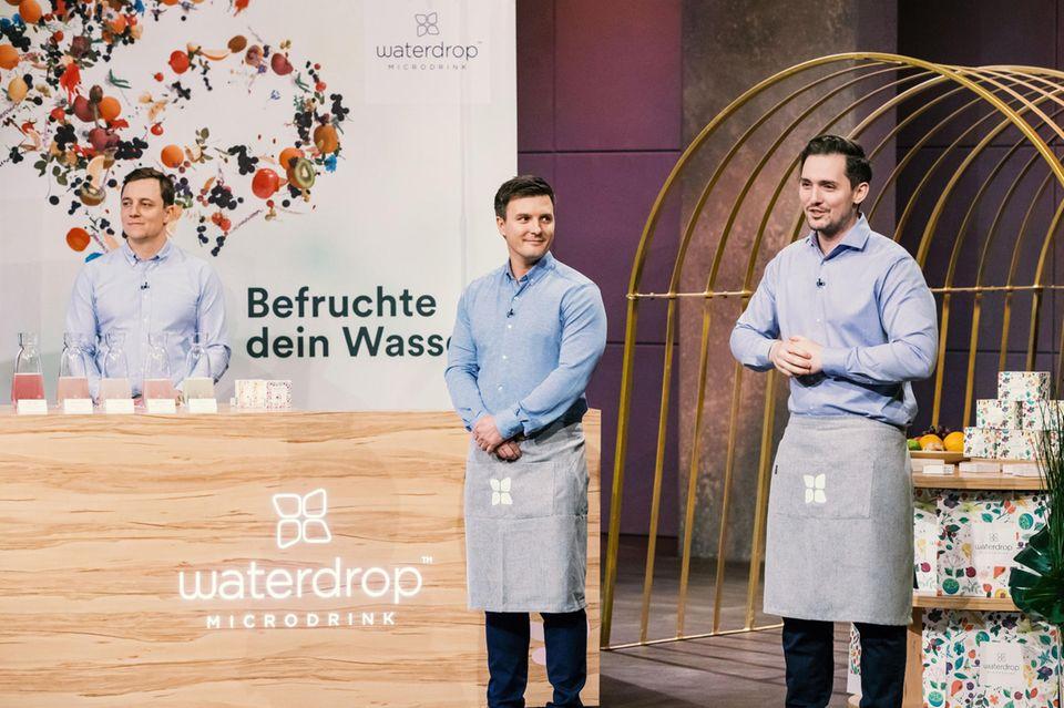 """""""waterdrop""""-Gründer Christoph Hermann, Martin Donald Murray und Thomas Henry Wieser"""