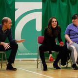 30. Oktober 2018  Prinz William seine Ehefrau bringen gute Laune in das Charity-Programm. Doch es wurden nicht nur Kugeln gerollt ...