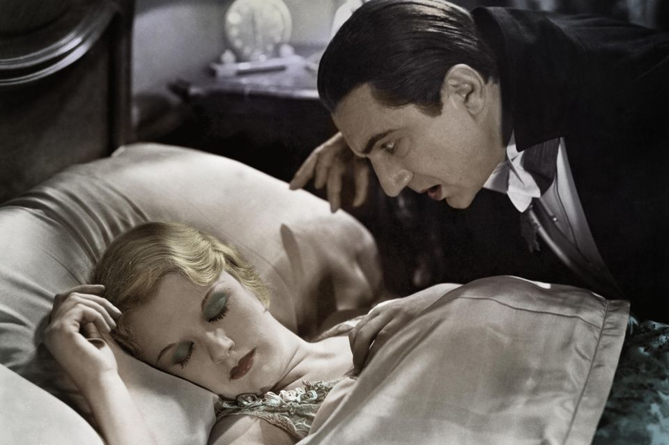 "Bela Lugosi und Helen Chandler in ""Dracula"", 1931."