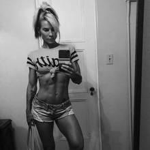 Fitnessmodel Mandy Blank.