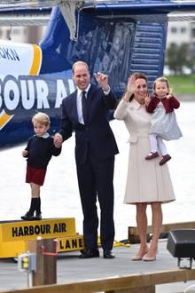 Prinz William, Herzogin Catherine, Sohn George und Tochter Charlotte