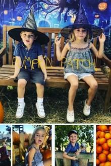 22. Oktober 2018  Pinzessin Madeleine und ihre Kinder Prinz Nicolas und Prinzessin Leonore sind schon im Halloween-Fieber. Gemeinsam geht esan diesem Tag auf das Kürbisfeld.