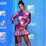 """Bei Rita Pereira ist die rosa schimmernde Oberfläche jedoch gewollt. Auch sie landet auf der """"Worst Dressed""""-Liste des Abends."""