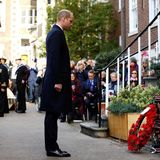 4. November 2018  Prinz William steht andächtig beim Gedenkgottesdienst und der Parade der Submariners in London.