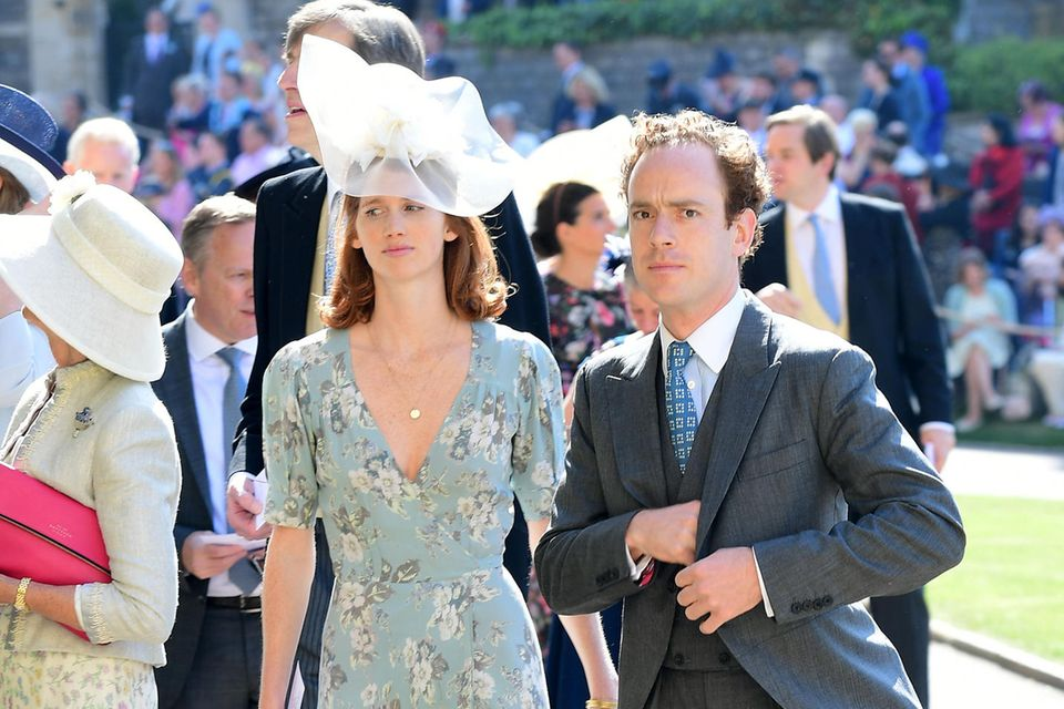 Tom Inskip und Lara Inskip bei der Ankunft zur Hochzeit von Prinz Harry und Meghan Markle in der St. Georges Chapel in Windsor