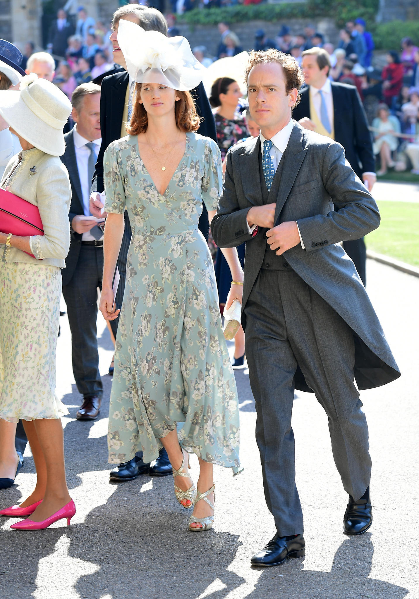 Tom Inskip und Lara Inskip bei der Ankunft zur Hochzeit von Prinz Harry und Meghan Markle in der St. Georges Chapel in Windsor