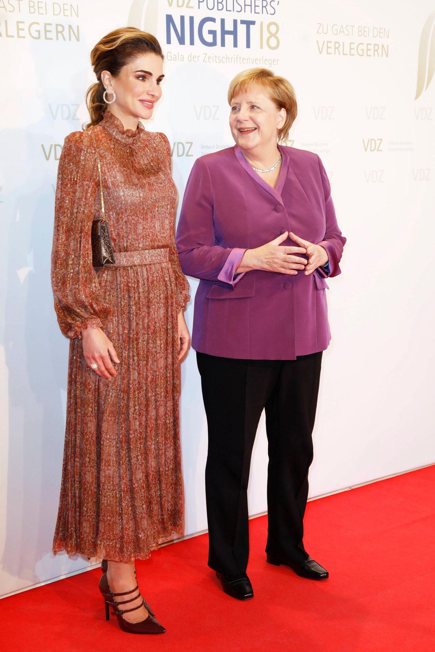 Beide Powerfrauen strahlen auf dem Red Carpet in der deutschen Hauptstadt.