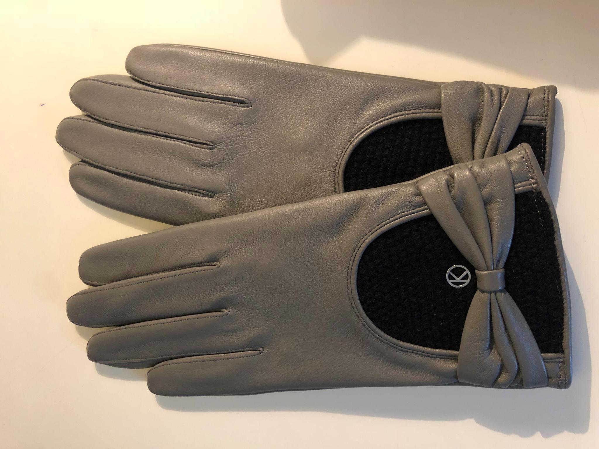 Graue Handschuhe aus Leder vonOtto Kessler