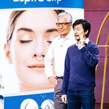 Wolfgang Kleiner (l.) und Vinh-Nghi Tiet legten mit ihrem berliner Start-Up aspUraclip Shopping-Sender lahm