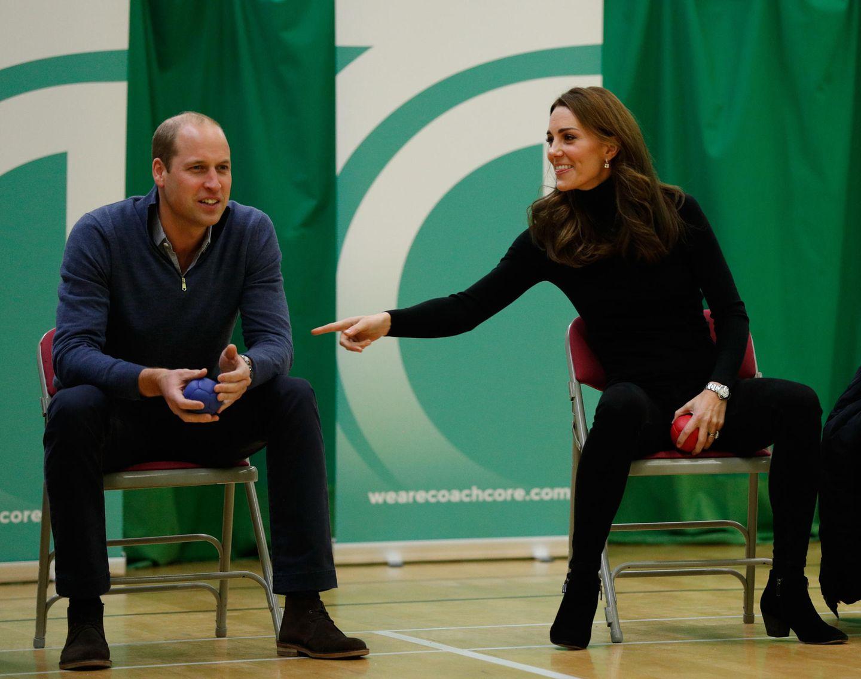 30. Oktober 2018  Zärtliche Annäherungsversuche von Herzogin Catherine bei einem gemeinsamen Termin in Essex.